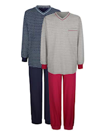 Pyjama's per 2 stuks van het initiatief Cotton made in Africa
