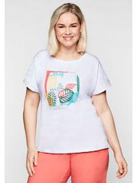 T-Shirt mit lässig überschnittenen Schultern