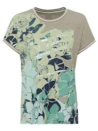Rundhalsshirt mit Blumen-Print