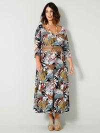 Robe en jersey avec couture médiane extensible à la taille