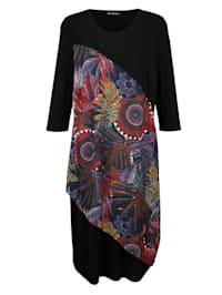 Šaty so šifónovou vsadkou