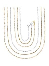 Halsband och armband, 3 par