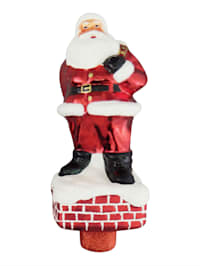 Christbaumspitze 'Santa auf Schornstein'