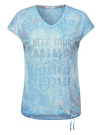 T-Shirt in Burn Out Optik