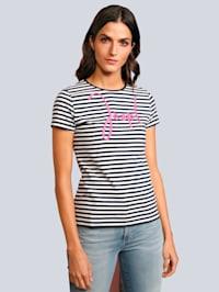 T-Shirt in Ringeloptik