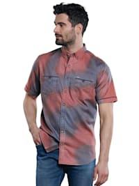 Kurzarm-Hemd gemustert