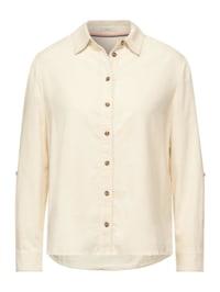 Cord Bluse in Unifarbe