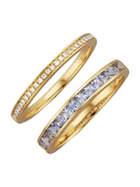 2tlg. Ring-Set in Gelbgold 585