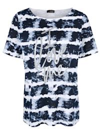 T-shirt à effet batik
