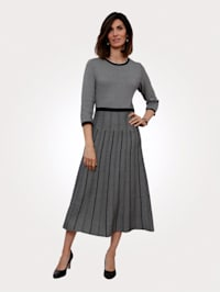 Knitted dress in a jacquard knit