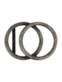 Wechselschließe mit zwei Kreisen in edlem Design
