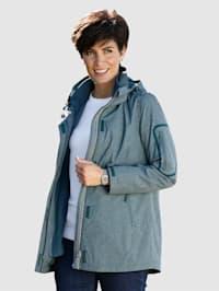 Outdoorjas met geïntegreerd fleece vest
