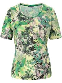 T-Shirt mit exotischem Allover-Print