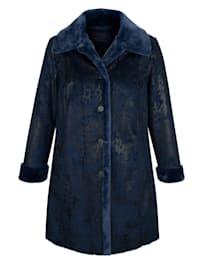 Manteau en similicuir avec intérieur en fausse fourrure