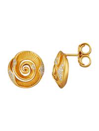 Roseøredobber i sølv 925, gullfarget