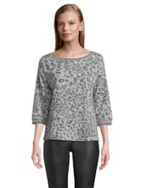 Casual-Sweatshirt mit Rippbündchen