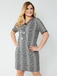 Jersey jurk met jacquard