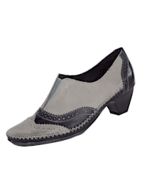 Court shoes with fashionable lyra perforation