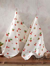 Geschirrtuch 'Erdbeere' im 2er-Pack