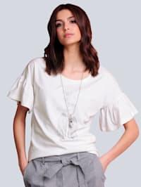 Shirt mit strassverziertem Motiv