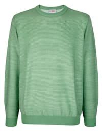 Pullover mit Allover-Rippenmuster