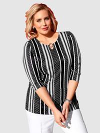 Tričko celoplošne s predlžujúcim vzorom