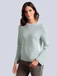 Pullover mit seitlichem Einsatz