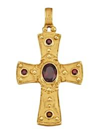 Byzanz-Kreuz-Anhänger in Silber 925, vergoldet