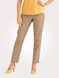 Pantalon à motif prince-de-galles