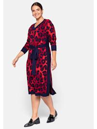 Kleid mit Animal Look (Jacquard Muster)