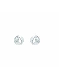 1001 Diamonds Damen Goldschmuck 585 Weißgold Ohrringe / Ohrstecker mit Zirkonia