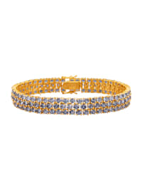 Bracelet de tanzanites en argent 925
