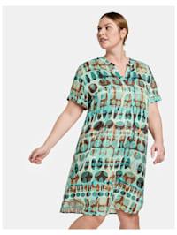 Tunikakleid mit Allover-Print
