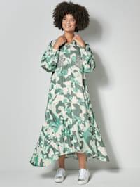 Hemdblusenkleid mit angesagtem Camouflage Muster