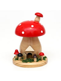 Holz Räucherfigur Pilz