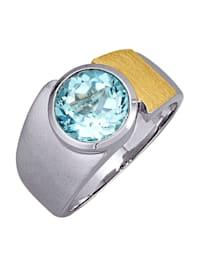 Ring i sølv 925, delvis gullfarget