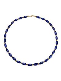 Collier serti de lapis-lazuli et de pyrites