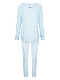 Schlafanzug mit hüschen Kontrastnähten