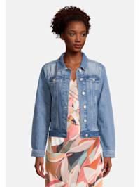 Casual-Jacke mit aufgesetzter Brusttasche Taschen