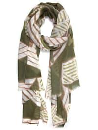 Schal Pansy mit geometrischen Formen