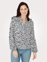 Pull-on blouse made from pure viscose
