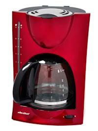 Machine à café design moderne, rouge métallisé