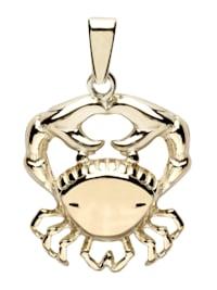Anhänger - Tierkreiszeichen Krebs - Gold 333/000 - ,