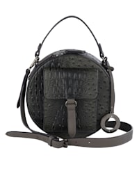 Handtasche mit Straußenprägung