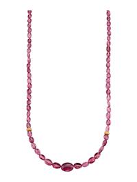 Turmalinhalsband i rosa