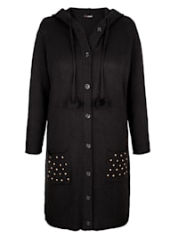 Dlhý sveter s kapucňou