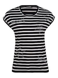Shirt mit Allover-Muster Glitzereffekt