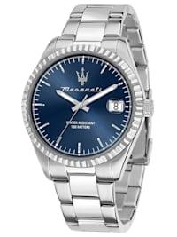 Herren-Armbanduhr Competizione Stahl/Blau