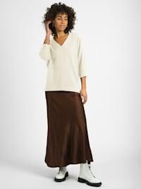 Pullover Addison Feinstrick-Organic- Cotton Pullover 3/4 Arm mit Cashmere