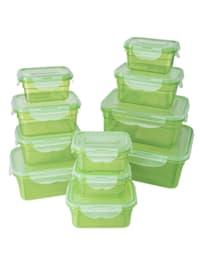 22tlg. Frischhaltedosen-Set, grün
